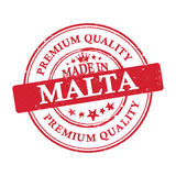 Made in Malta, Premium Quality grunge printable sticker. Made in Malta, Premium Quality grunge printable label / stamp / sticker. CMYK colors used Royalty Free Stock Images