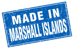 Made in Marshall Islands stamp. Made in Marshall Islands square stamp isolated on white background Royalty Free Stock Photography