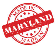 Made in Maryland stamp Royalty Free Stock Photo
