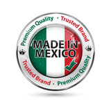 Made in Mexico, Premium Quality, trusted brand - business commerce shiny icon Stock Photos