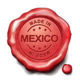 Made in Mexico red wax seal Stock Image