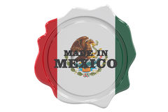 Made in Mexico seal, stamp. 3D Royalty Free Stock Images