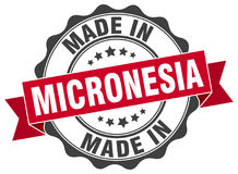 Made in Micronesia seal. Made in Micronesia round vintage seal Stock Photography
