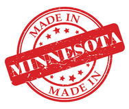 Made in Minnesota stamp royalty free illustration