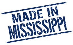 Made in Mississippi stamp Stock Photos