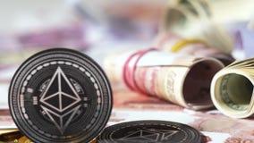 Made modelo negro por la plataforma de Ethereum contra el dinero Rolls