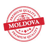 Made in Moldova, Premium Quality sticker. Made in Moldova, Premium Quality grunge printable label / stamp / sticker. CMYK colors used Royalty Free Stock Images