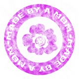 Made by a Mom rubber stamp Royalty Free Stock Images