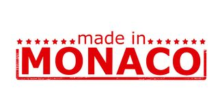 Made in Monaco. Rubber stamp with text made in Monaco inside,  illustration Stock Images