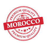 Made in Morocco, Premium Quality grunge printable sticker. Made in Morocco, Premium Quality grunge printable label / stamp / sticker. CMYK colors used Stock Photography