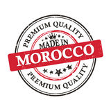 Made in Morocco, Premium Quality printable banner / sticker. Made in Morocco, Premium Quality printable business grunge label / stamp. Print colors used Stock Photos