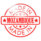 Made in Mozambique red seal Royalty Free Stock Photo