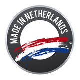 Made in Netherlands label badge logo certified. Stock Image