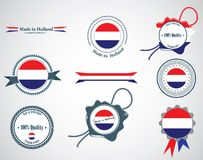Made in Netherlands - set of seals, badges. Stock Photography