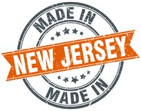Made in New Jersey stamp. Made in New Jersey round grunge stamp isolated on white background. New Jersey. made in New Jersey royalty free illustration
