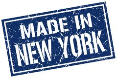 Made in New York stamp. Made in New York square grunge stamp isolated on white background. New York royalty free illustration