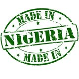 Made in Nigeria. Rubber stamp with text made in Nigeria inside,  illustration Stock Image