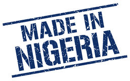 Made in Nigeria stamp Stock Photo