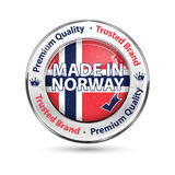 Made in norway, Premium Quality elegant button / label Stock Image
