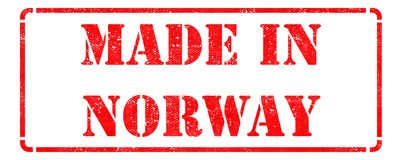 Made in Norway - Red Rubber Stamp. Royalty Free Stock Image