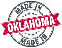 Made in Oklahoma red stamp Royalty Free Stock Photography