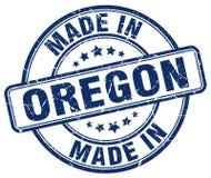 Made in Oregon blue grunge stamp Royalty Free Stock Image