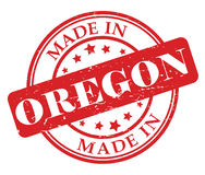 Made in Oregon stamp Royalty Free Stock Photo