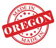 Made in Oregon stamp Stock Photo