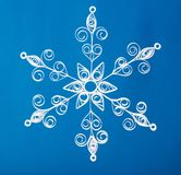 Нand made. Paper Christmas snowflake Royalty Free Stock Photos