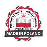 Made in Poland. Premium Quality Royalty Free Stock Photography
