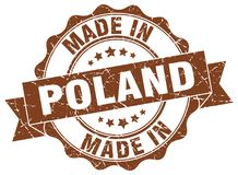Made in Poland seal. Made in Poland round seal Stock Photo