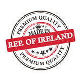 Made in Rep. of Ireland, Premium Quality grunge printable sticker. Made in Romania, Premium Quality grunge printable label / stamp / sticker. CMYK colors used Stock Photos