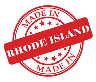 Made in Rhode Island stamp Royalty Free Stock Photo