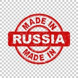 Made in Russia red stamp. Vector illustration on isolated background Royalty Free Stock Photos