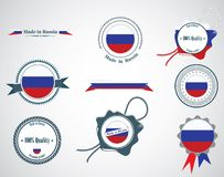 Made in Russia - seals, badges. Royalty Free Stock Photos