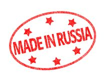 Made in Russia stamp Stock Photography