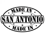 Made in San Antonio. Stamp with text made in San Antonio inside, illustration royalty free illustration