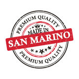 Made in San Marino, Premium Quality grunge printable sticker. Made in San Marino, Premium Quality grunge printable label / stamp / sticker. CMYK colors used Stock Images