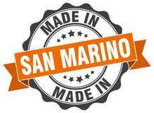 Made in San Marino seal. Made in San Marino round vintage seal Stock Image