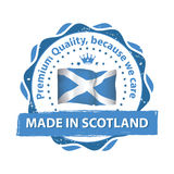 Made in Scotland, Premium quality stamp / label Royalty Free Stock Photography