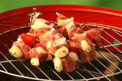 Made shashlik on a grill Royalty Free Stock Image