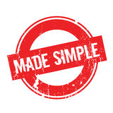 Made Simple rubber stamp Royalty Free Stock Images