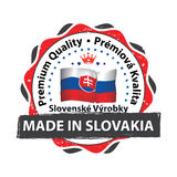 Made in Slovakia. Premium quality - printable label royalty free illustration