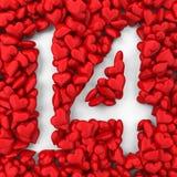 14 made from small hearts Royalty Free Stock Photos