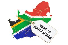 Made in South Africa concept, 3D rendering stock illustration