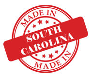 Made in South Carolina stamp. Illustration on white background Royalty Free Stock Image
