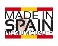Made in Spain icon, premium quality sticker with Spanish colors Stock Image