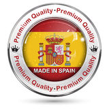 Made in Spain. Premium Quality label / button / icon. / sticker , with Spanish flag colors Royalty Free Stock Photo