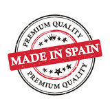Made in Spain, Premium Quality  printable banner / sticker. Made in Spain, Premium Quality printable grunge label / stamp. Print colors CMYK used Stock Image