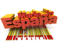 Made in Spain, quality Stock Image